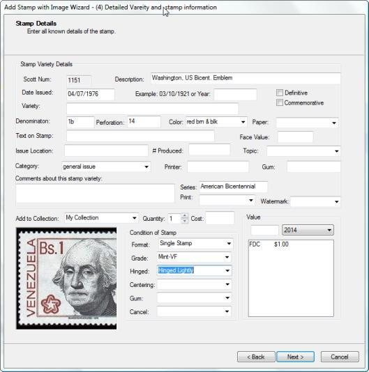 StampManage Deluxe Stamp Collecting Software