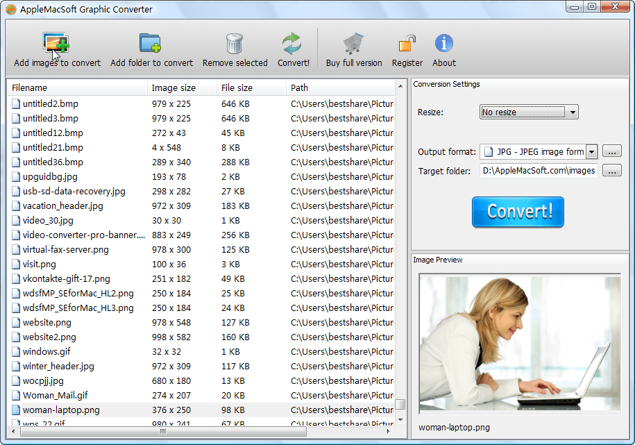AppleMacSoft Graphic Converter for Windows