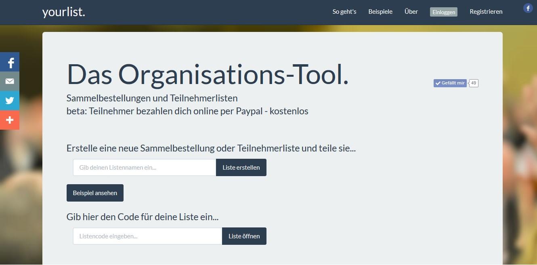 Yourlist - Das Organisations-Tool