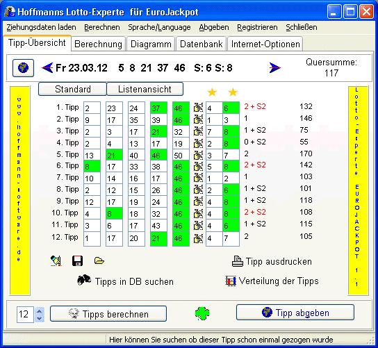 Hoffmanns Lotto-Experte EuroJackpot