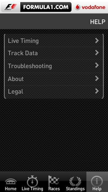 Formula1.com 2011 Application