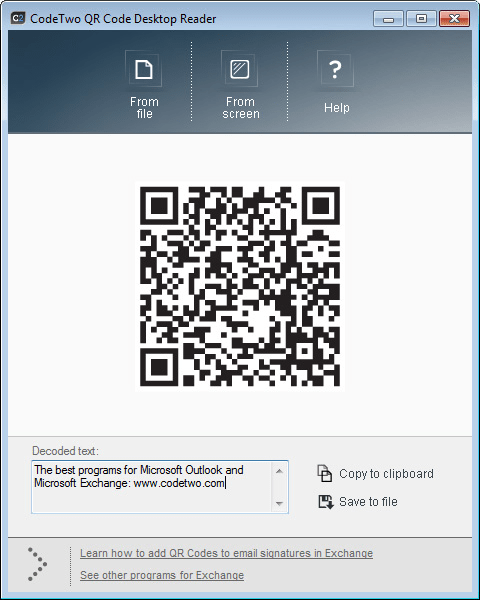 Code Two QR Code Desktop Reader