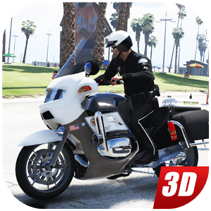 Police Motorbike  Simulator Crime City Chase 3D