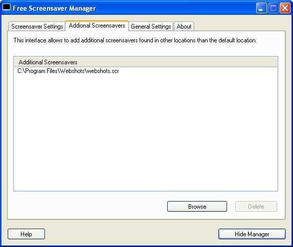 Free Screensaver Manager