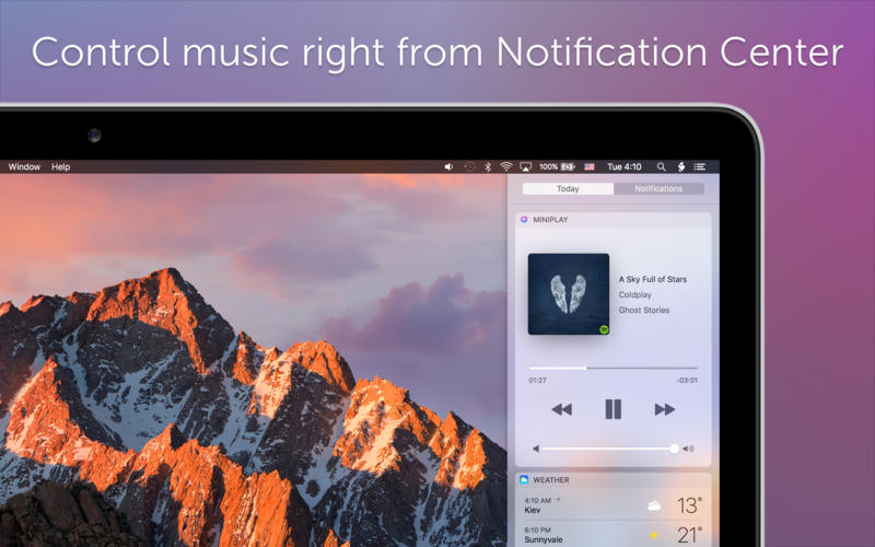 MiniPlay for Spotify and iTunes
