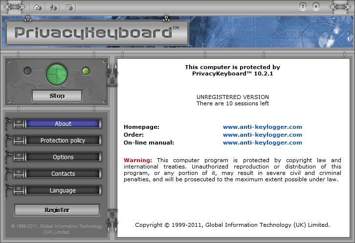 PrivacyKeyboard