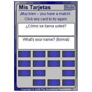 Mis Tarjetas Spanish Vocabulary Study Tool