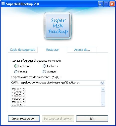 SuperMSNBackup