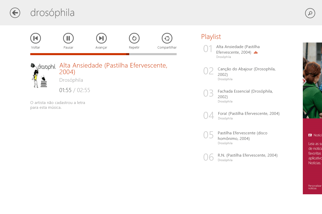 Palco MP3 para Windows 10