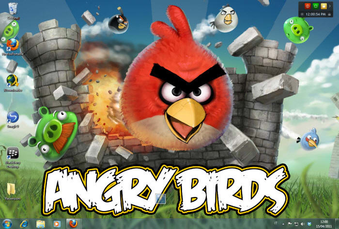Tapeta Angry Birds Castle