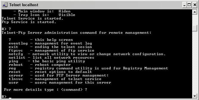 Telnet Ftp Server