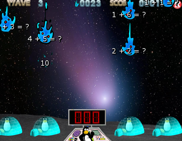 Tux of math command online game