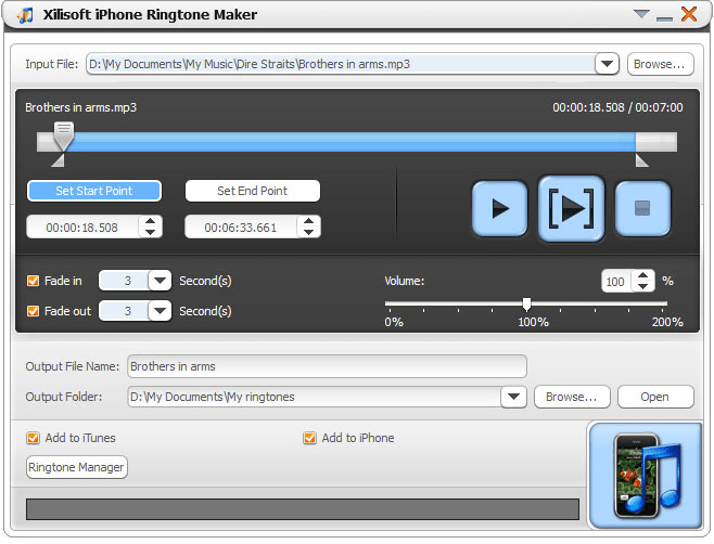 Xilisoft iPhone Ringtone Maker for Mac