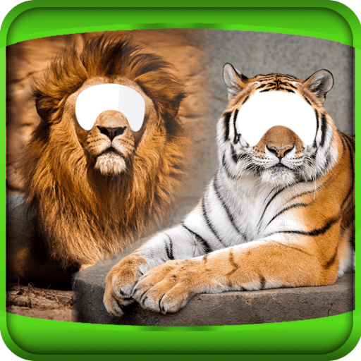 Tiger And Lion Photo Montage