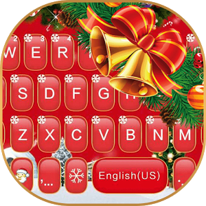 Red Christmas Keyboard Theme