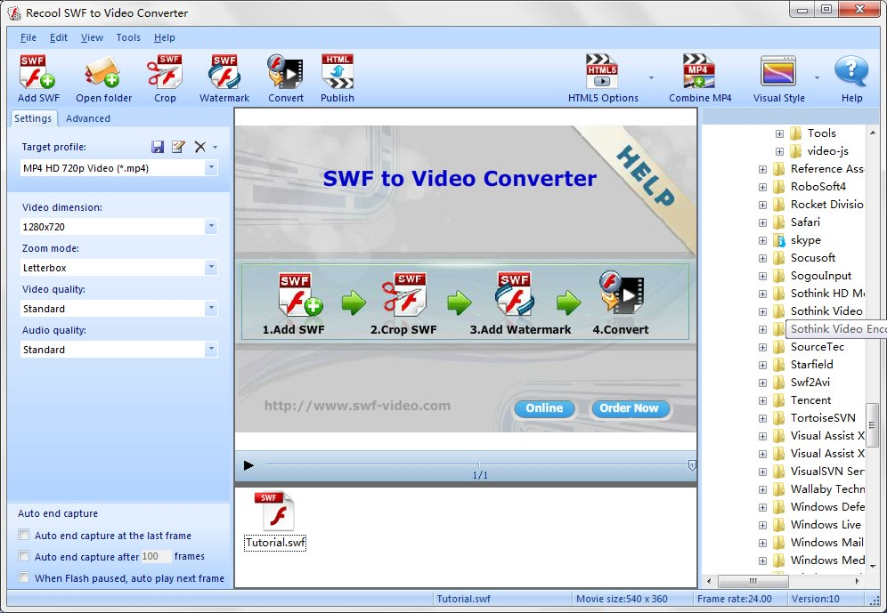 Recool SWF to Video Converter
