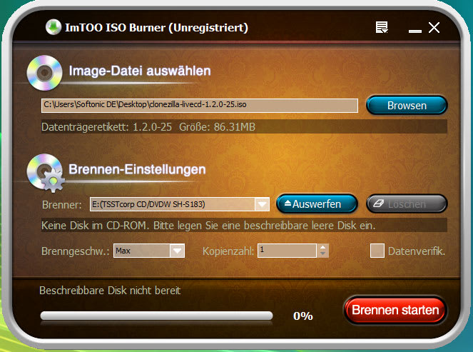 ImTOO ISO Burner