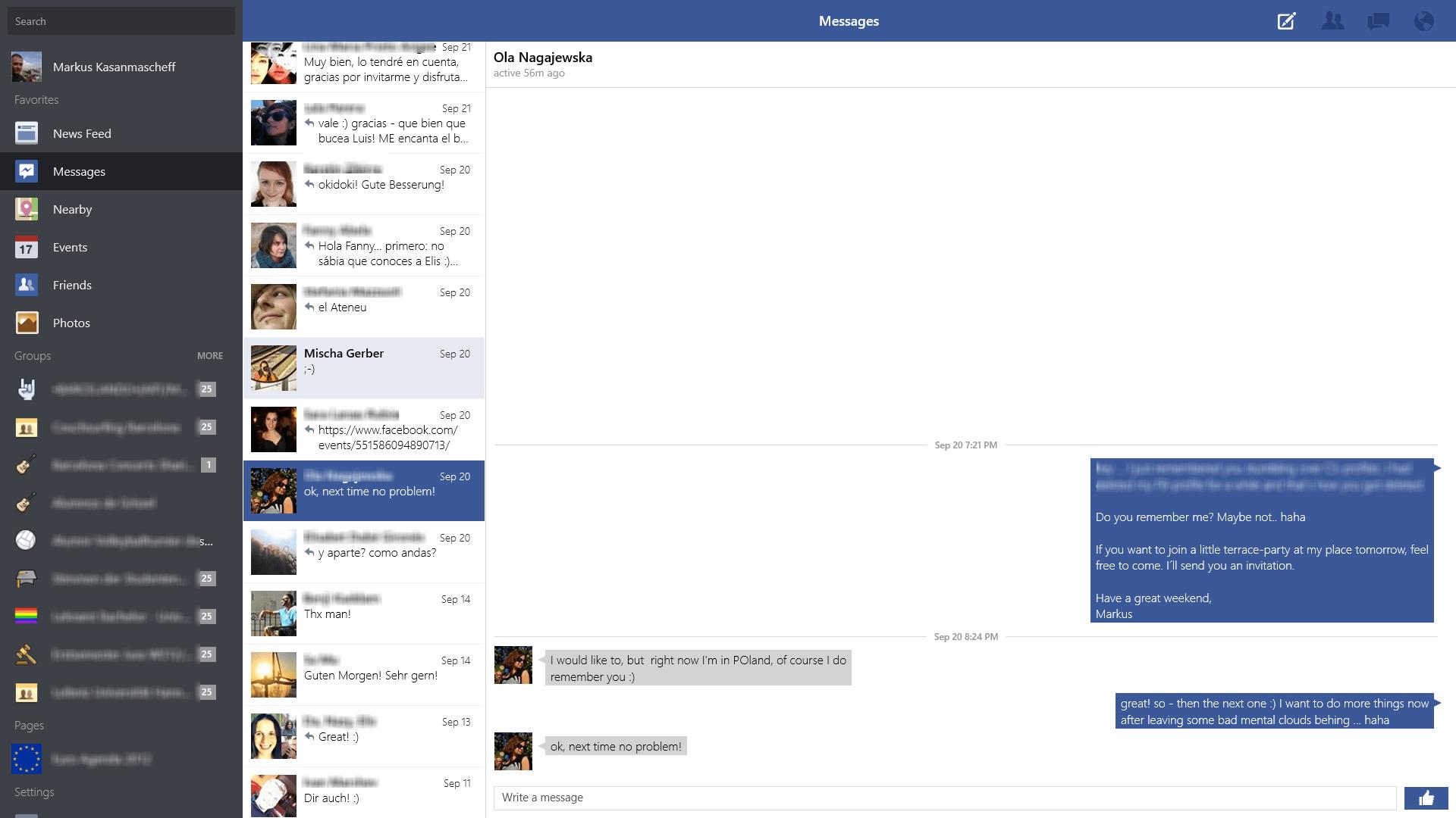 Facebook Messenger (beta) pour Windows 10 - clubic.com