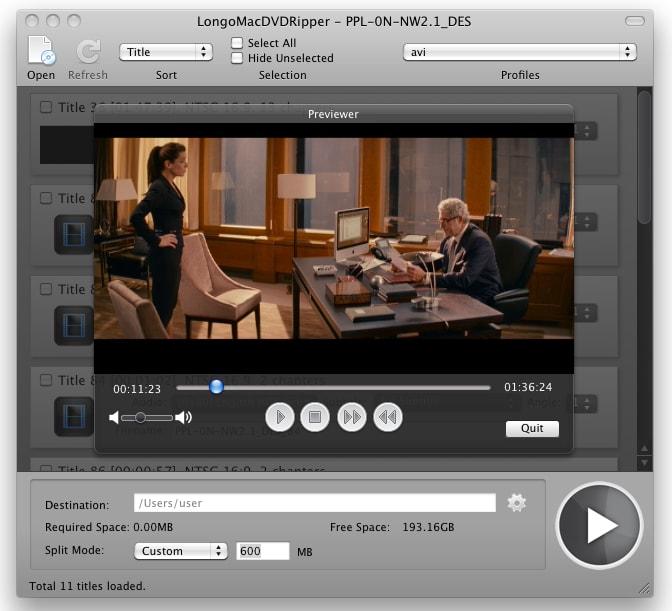 Longo mac dvd ripper Longo Mac DVD Ripper2.40