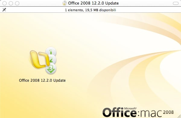 Microsoft Office 2008 per Mac Service Pack 2