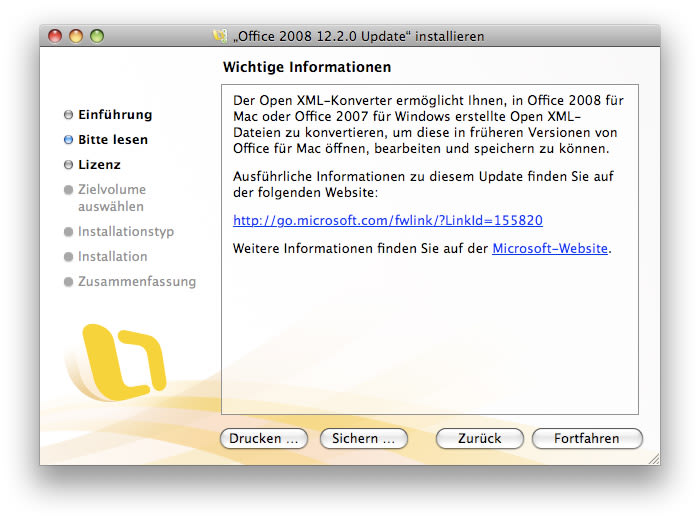 Microsoft Office 2008 für Mac Service Pack 2