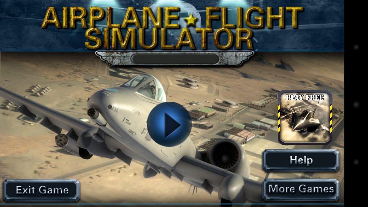 Avião simulador de vôo 3D