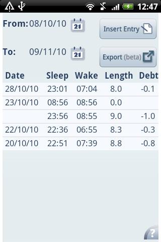 Sleep Bot Tracker Log
