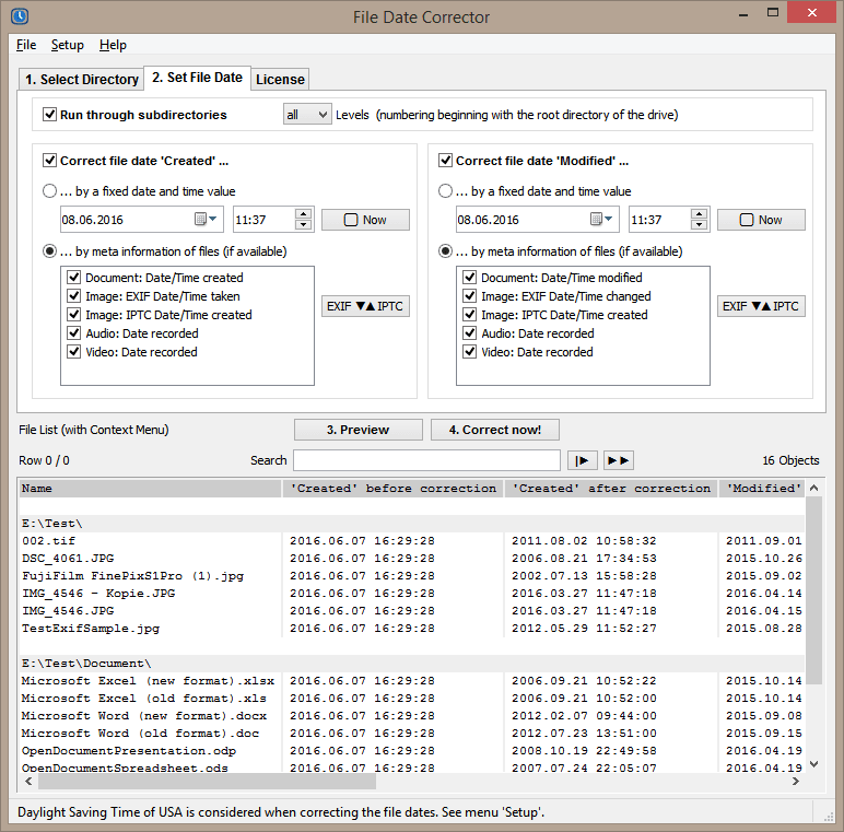 File Date Corrector