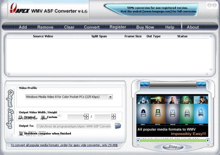 Apex WMV ASF Converter