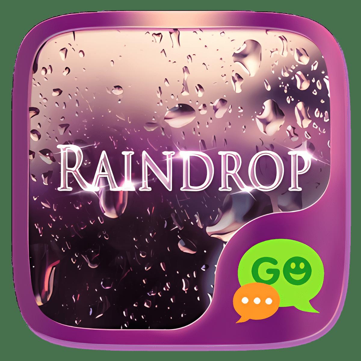 (FREE) GO SMS RAINDROP THEME 1.1