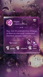 (FREE) GO SMS RAINDROP THEME