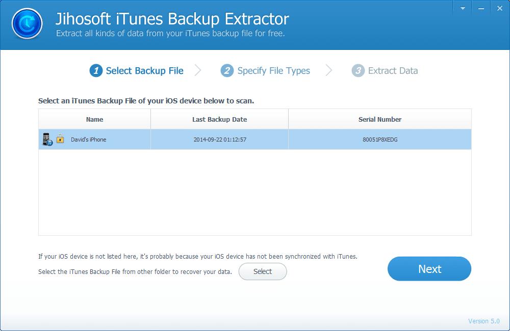 Jihosoft iTunes Backup Extractor Pro