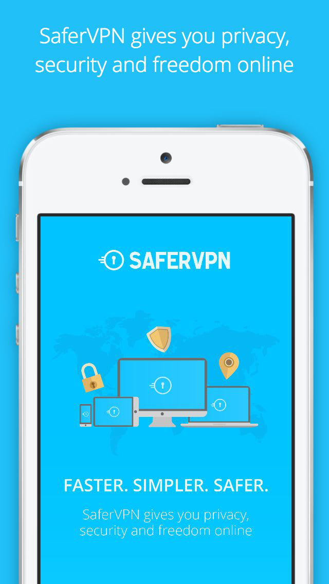 SaferVPN for iPhone, iPad - Fast & Easy VPN for Security and Privacy Online