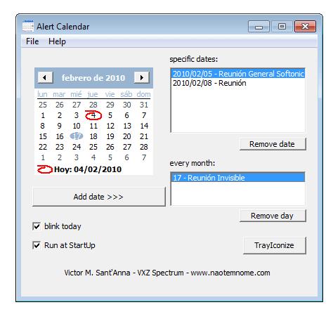 Alert Calendar