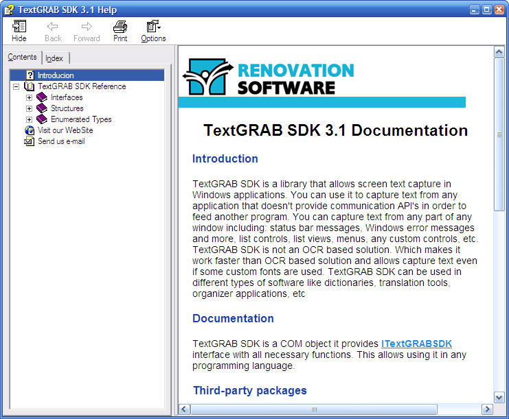 TextGRAB SDK