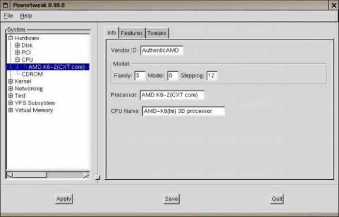 Powertweak-linux