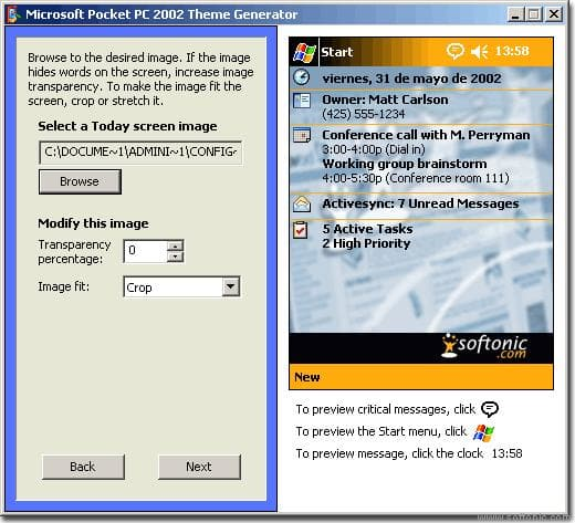 Theme Generator for Pocket PC 2002