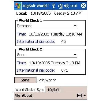 10gSoft World Clock Sync