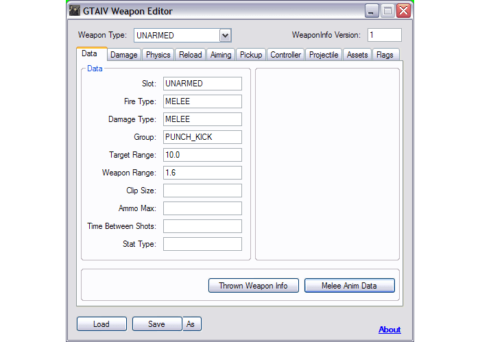 GTA IV Weapon Editor