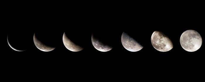 Fond d'écran double – La lune