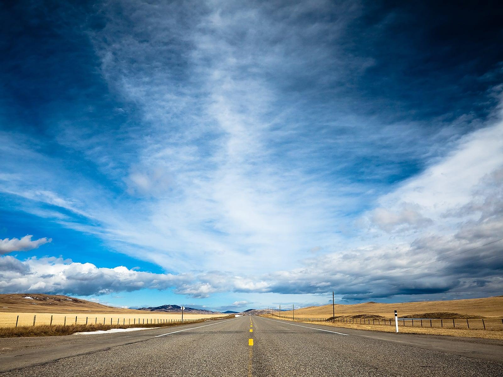 When the Road Met the Sky Wallpaper