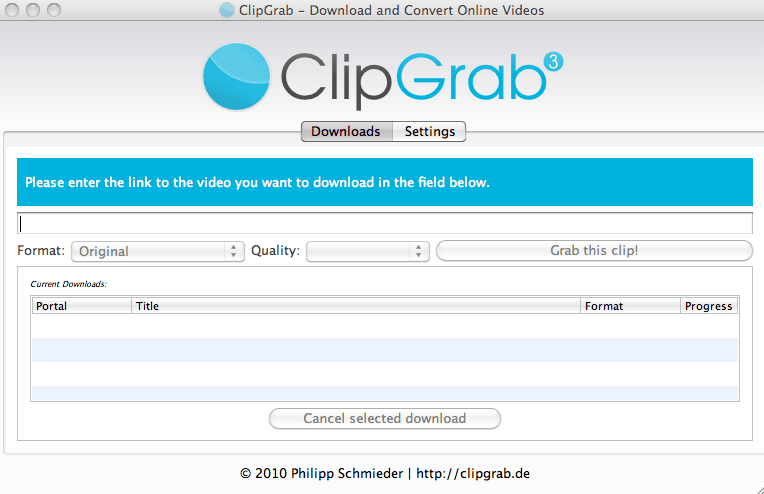 clipgrab mac derniere version Windows
