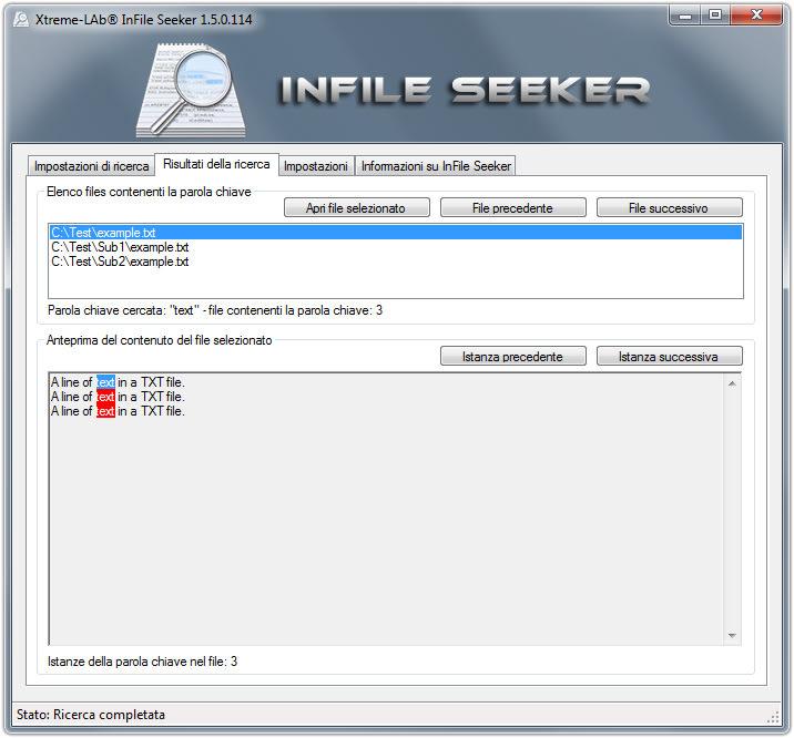 InFile Seeker
