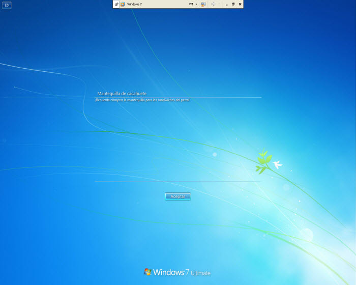 Windows 7 Logon Message