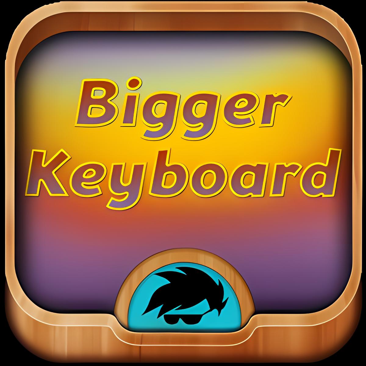 Más grande el tema del teclado