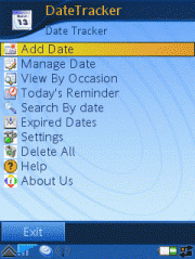 Date Tracker for Symbian
