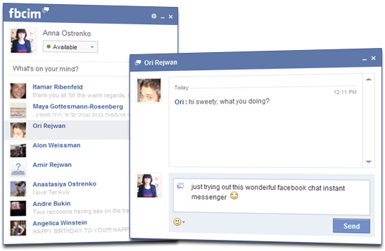 Facebook Chat Instant Messenger