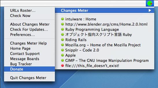 Changes Meter