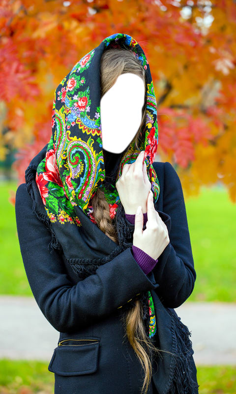 Shawl Woman Photo Montage