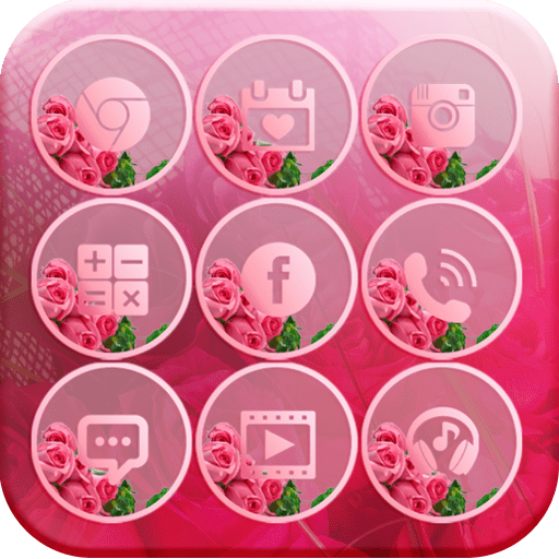 Pink Rose Theme Love Memory